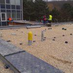 na plochú strechu bol použitý štrkový zásyp